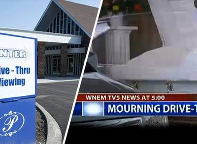 News video: Funeral Chapel's Drive-Thru Viewing Window
